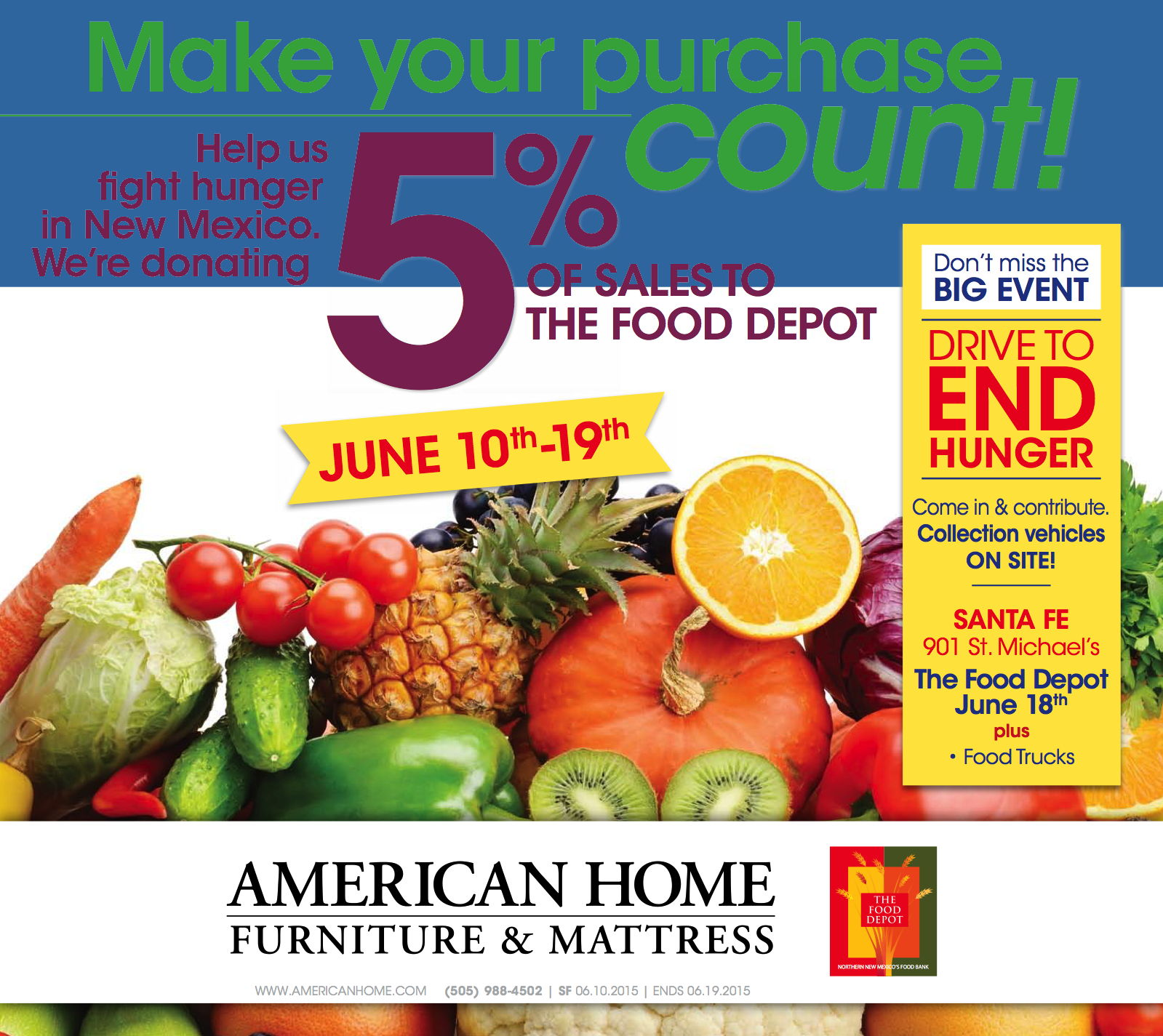 American Home Food Drive The Food Depot